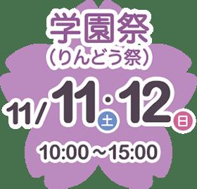 11/11〜11/12学園祭(りんどう祭)